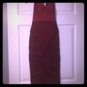 Fashion Nova Maroon Dress Sz. S